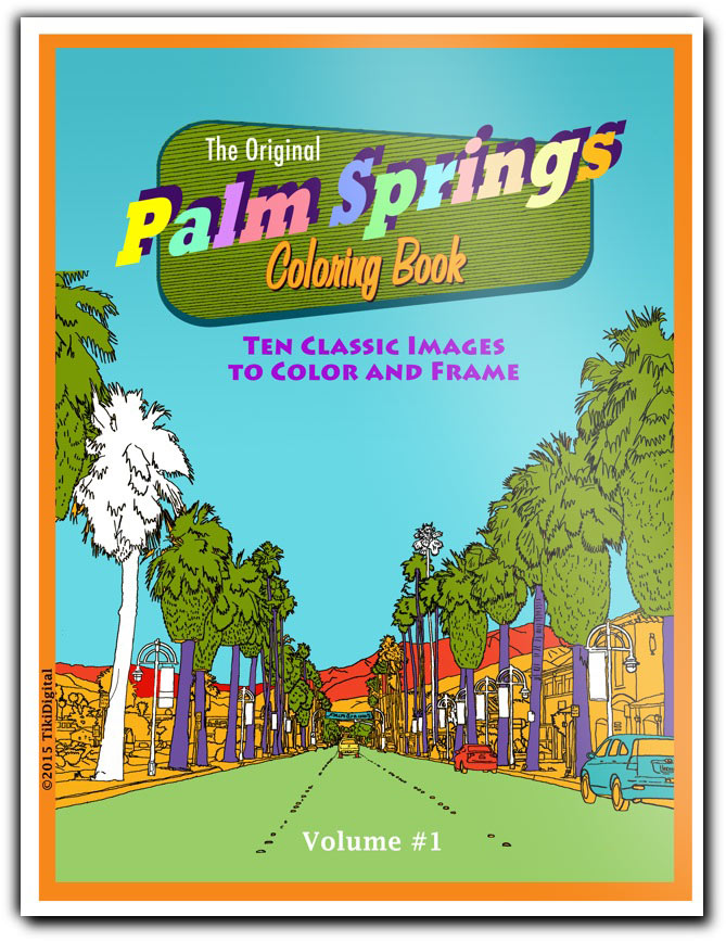 Palm Springs Coloring Book for adults